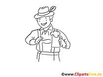 Trachten Clipart, Cartoon, Illustration, Grafik gratis