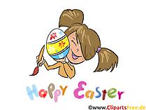 Bilder zu Ostern für Basteln im Kindergarten und in der Vorschule