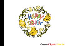 Paskalya resim, küçük resim, resim için çiçek dalları