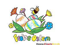 Bunte Ostereier - Osterbilder zum Ausdrucken kostenlos