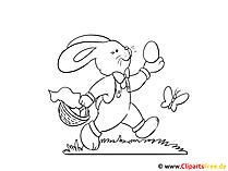 Cartoon zu Ostern zum Ausmalen