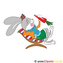 Paskalya'nın Paskalya tavşanı havuç ile için Clipart