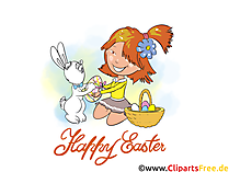 eCard Happy Easter Illustration, Pic, Afbeelding, Gratis Clip Art