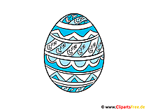 Ei zu Ostern Clipart, Bild, Grafik, Illustration