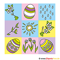 Happy Easter-foto's, grafische weergaven, eCards, tekenfilms, strips