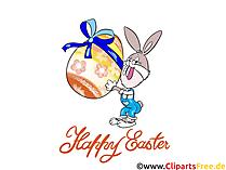 Ostern Bilder lustig - lustige Osterhase mit Osterei