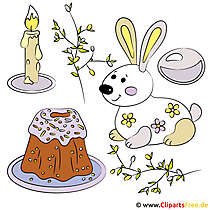 Frohe Ostern Clipart
