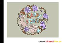 Paskalya için ücretsiz kart