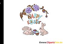 Baskı için ücretsiz Paskalya tavşanları