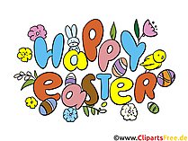 Happy Easter Clip Art, eCard, Image, Picture