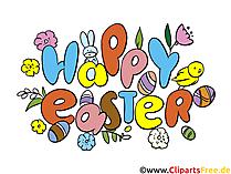 Happy Easter Clip Art, eCard, afbeelding, afbeelding