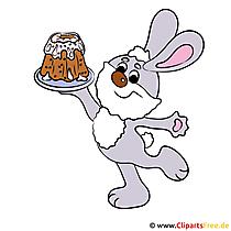 Bunny Paskalya Clipart için ücretsiz