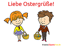 Love Easter greetings - kaart voor Pasen