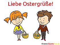 Liebe Ostergrüße - Karte zu Ostern