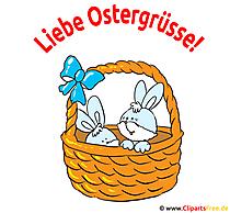 Liebe Ostergrüße Karte, Bild, Grafik, Clipart