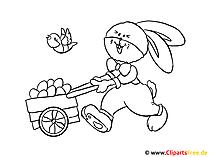 Boyama sayfası Paskalya tavşanı