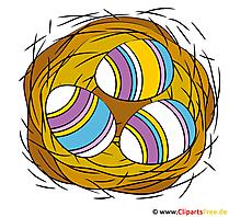 卵と巣クリップアート