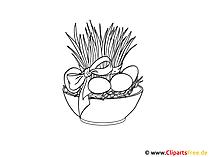 Osterausmalbild