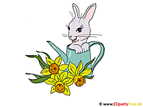 イースターのウサギとイースター写真