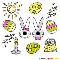 Ücretsiz resimlerle Paskalya süsleri hazırlayın
