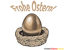 Osterei Bild, Clipart, Illustration, Grusskarte
