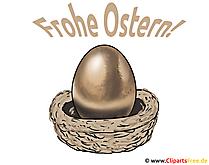 Paskalya yumurtası resmi, küçük resim, illüstrasyon, tebrik kartı