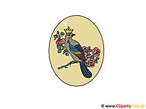 Osterei dekoriert Bild - Clipart