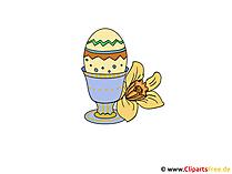 Paskalya yumurtası kartı - kendini el sanatları için görüntü