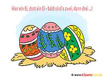 Paskalya yumurtaları - Paskalya yumurtaları ve tebrikler tebrik kartı