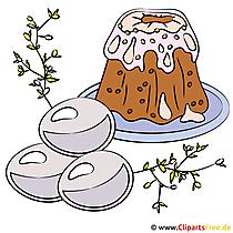 Paskalya yemeği resmi - clipart