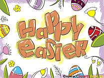 Ostergruss Happy Easter Bild, Grafik, Clipart, Grusskarte, GB Bild