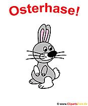 Osterhase Cartoon Clipart kostenlos