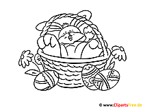 Osterkorb Ausmalbild