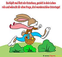 Ostern Gedicht über Osterhase - Illustration zum Drucken