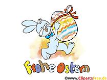 Ostern Hintergrundbilder, Wallpaper mit Osterhasen und Ostereiern