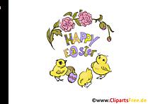 Ostern Küken Bilder zum Drucken
