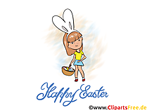 Witzige Osterbilder kostenlos - Osterkaninchen Kostüm
