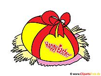 Wünsche zum Osterfest - Bild gratis zum Drucken