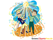 Beach-Party Illustration. Clipart, Image