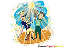 Beach party illustratie. Clipart, afbeelding