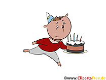 Cartoon verjaardag gratis