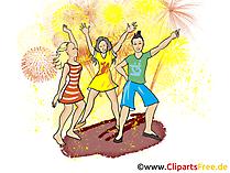 Vier Clip Art, Afbeelding, Illustratie