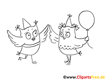 Clip Art Party black white