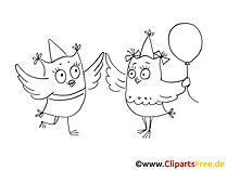 Clip Art Party zwart wit