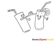 Clipart Cocktail schwarz-weiss