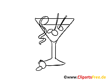 Cocktail Party Sommer Illustration, Bild, Grafik