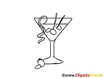 Cocktail zomer illustratie, afbeelding, grafisch