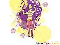 Dancing Girl Clip Art, Pic, Image
