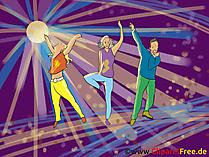 Disco Dancers Clip Art, afbeeldingen, illustraties