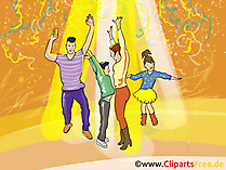 Einladung zu Party Clipart, Bild, Grafik, Illustration